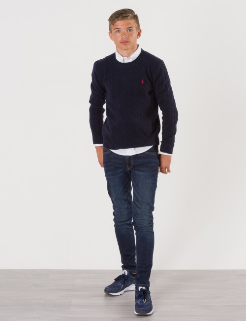 Om Ralph Lauren barneklær - CABLE CREWNECK SWEATER