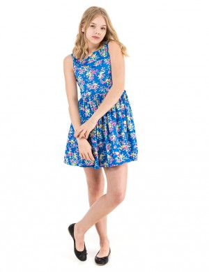 FLORAL DRESS-DRESSES-WOVEN