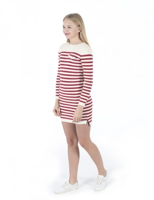 STRIPE DRESS-DRESSES-SWEATER
