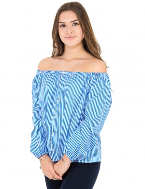 STRIPE TOP-TOPS-SHIRT