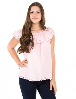 EYELET TOP-TOPS-SHIRT
