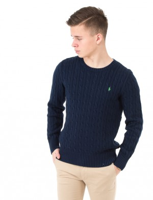 LS CABLE CN-TOPS-SWEATER