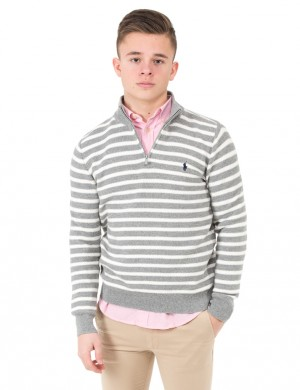 HZ MN STRIPE-TOPS-SWEATER