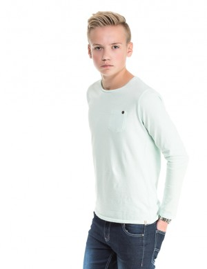 Garment dyed crew neck tee