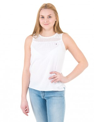 COTTON CREPE TOP SLVLS
